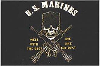 Vlajka U.S.M.C.  černá