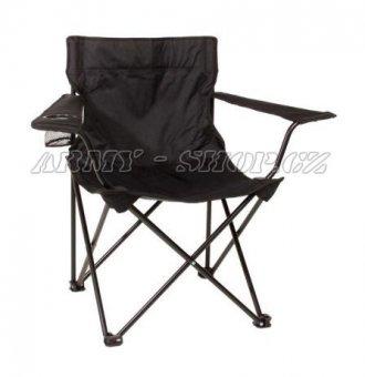Židle rozkládací - Černá